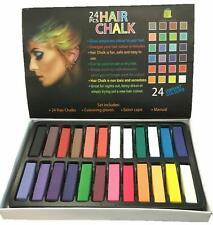 GESSO per capelli tintura temporanea Pettine Colore Morbide pastelli Salon Kit 24 partito Cosplay Set