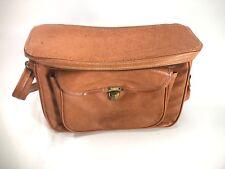 Brown Leather Camera Messenger Satchel bag Vintage Look