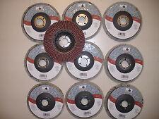"10 PIECE 4"" INCH ANGLE GRINDER SANDING FLAP DISC WHEEL 40 GRIT"
