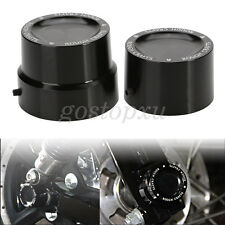 Black Rear Axle Nut Cover Cap For Harley Softail Dyna V-Rod Sportster 883 1200