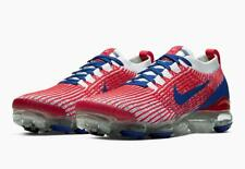 "NIKE VAPORMAX FLYKNIT 3.0 ""USA"" Olympics Red Blue CW5585-100 Team 100% Authentic"