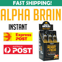 ONNIT Alpha BRAIN Instant 30 packs PEACH Nootropic GPC Huperzine Joe Rogan JRE
