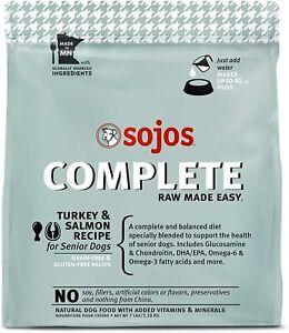SOJOS Complete Freeze-Dried Turkey & Salmon Raw Senior Dog Food, 1.75 Pounds