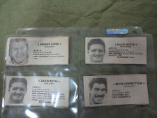 #1. FOUR 1987-1989 SOUTH SYDNEY DAILY MIRROR NEWS RUGBY LEAGUE PLAYER CUTOUTS