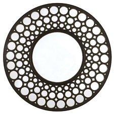 Wall-mounted Plastic Frame Round Decorative Mirrors