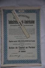 10 actions Compagnie industrielle Sud-Américaine Anvers
