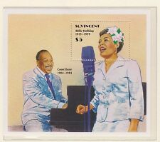 ST VINCENT STAMP SHEET MNH 1991 JAZZ MUSICIANS BILLIE HOLLIDAY COUNT BASIE