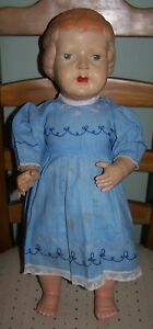 """LARGE 21"""" ENGLISH PALITOY CELLULOID DOLL - HAS FAULTS AS DESCRIBED"""