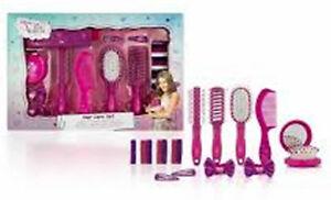 Disney VIOLETTA Hair Care Set - Brush Comb Headbands/Bows Pony Bands Mirror....