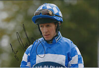 Jim CROWLEY Jockey SIGNED Autograph 12x8 Photo AFTAL COA Genuine Rare Champion