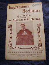Partition Impressions Nocturnes A Deprince A Muréna Music Sheet