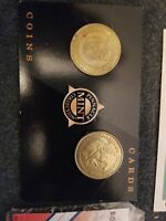 (5) MIKE PIAZZA 1998 Pinnacle Mint brass Coins W/DIE CUT METS DODGERS hof