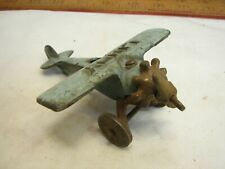Vintage Hubley Lindy Cast Iron Toy Airplane w/Propeller Air Plane Pot