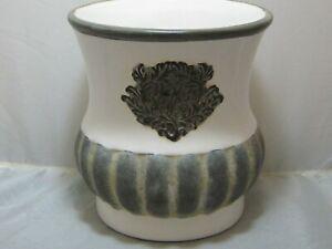Southern Living at Home Large Vintage Tuscan Ceramic Pot Urn Vase Cream 40995