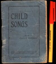 POCKET 1914 CHILD SONGS for Home, Primary and Sunday School Singing LYRICS Book