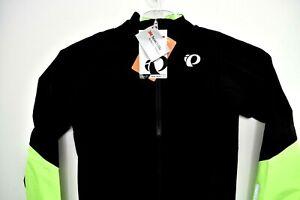 NEW Pearl iZUMi Mens Pro Pursuit WxB Shell Jacket Black/Screaming Green Small