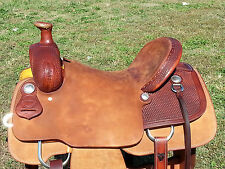 """16"""" Johnny Scott Ranch Roping Saddle (Made in Texas)"""