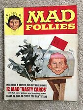 1969 Rare MAD FOLLIES MAGAZINE 7th Annual Complete; Bonus Insert 11 NASTY CARDS