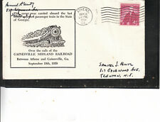 GAINSVILLE MIDLAND RAILROAD ATHENS.GA SEP 19 1959 LAST STEAM POWERED TRIP ULTRA