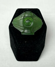 Alan Scott Green Lantern Ring, Plant-based Translucent Green Resin, made in USA