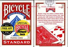 Stripper Deck Red Bicycle Playing Cards Classic Card Magic Trick w/ Instructions