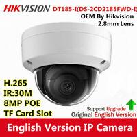 HIKVISION 4K 8MP OEM DS-2CD2185FWD-I H.265 2.8mm IR30 Security IP Camera SD Slot