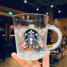 New Starbucks 2019 China Merry Christmas 12oz Carnival Cold Discolor Glass Mug