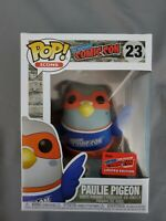 Funko Pop New York Comic Con Paulie Pigeon Exclusive Con Sticker NYCC Orange 23