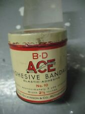 B - D  ACE   ADHESIVE  BANDAGE  TIN  VINTAGE   ORIGINAL