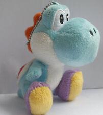 """NEW Nintendo SUPER MARIO BROS.Friends 4"""" Blue Yoshi  KEYCHAIN Stuffed Doll"""