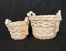 Hi-Home Interiors White Baskets set/2