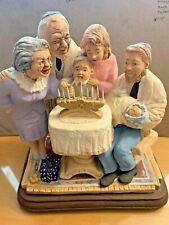 "Rare 1995 Lauren Marems ""Hanukkah"" Jewish Figurine Sculpture Menorah Signed"