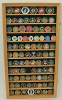 Large 108 Challenge Coin Display Case Cabinet Pin Medal, Real Glass, COIN2-OA