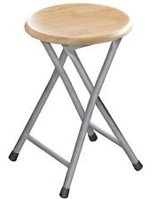 WOODEN STEP SEAT STOOL FOLDABLE ROUND CHAIR SMALL STOOL KITCHEN BIRCH WOOD BEECH