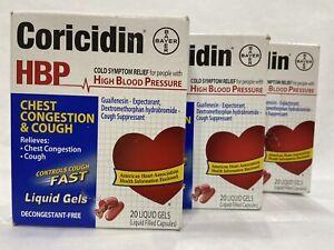 Coricidin HBP Chest Congestion & Cough Liqui-Gels Softgels 60 TOTAL EXP 10/2021