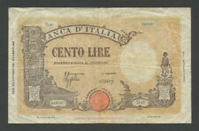 ITALY 100 lire  1943  New Seal  Krause.68  VG-Fine  Banknotes