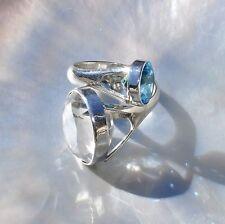 Echte Edelstein-Ringe aus Sterlingsilber mit Bergkristall