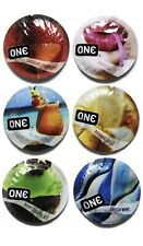 50 Pack - One Flavor Waves - Assorted Flavors - Variety Pack Condoms