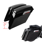 "5"" Vivid Black Stretched Saddlebags Fit For 93-13 Harley Touring Road King Glide"