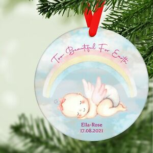 Personalised Baby Girl Memorial Remembrance Christmas Tree Decoration