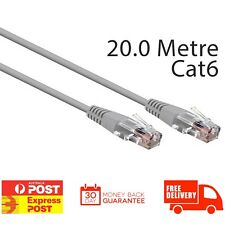 3SIXT Ethernet Cable Cat 6 Round - 20.0m - Grey | Brand New Retail Boxed