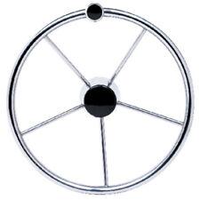 15 Inch Diameter Stainless Steel 5 Spoke Destroyer Steering Wheel with Knob