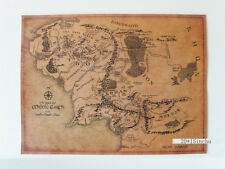 Vintage MIDDLE EARTH Forodwaith Map Poster 20*15inchu