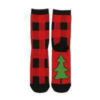 LazyOne Unisex Plaid Adult  Crew Socks UK 3-8/EU 36-41/US 9-11