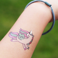 Unicorn temporary tattoos birthday party favour, princess birthday
