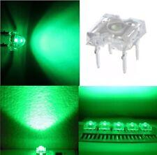 5 diodi led PIRANHA SUPERFLUX 3 mm VERDE resistenze NON INCLUSE