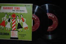 THE CHORDETTES Harmony Time 45 EP RECORD SET