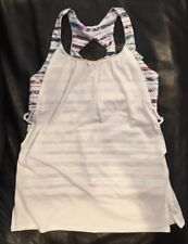 IVIVVA By Lululemon Size 12 Twist And Flow Tank White WHT/ODYS Athletic Gym NWT