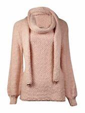 f7d1ae112a Calvin Klein Women s Slub Yarn Scarf   Pullover Sweater ...