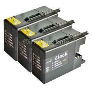 3 Patronen für Brother für den Drucker MFC-J5910DW LC 1280 XXL NEU inkcompany
